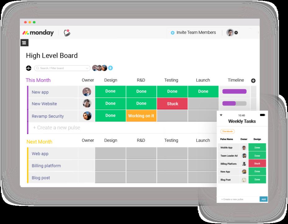 monday best productivity apps brief